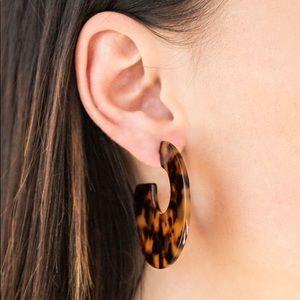 TORTOISE Acrylic Earrings | Brown